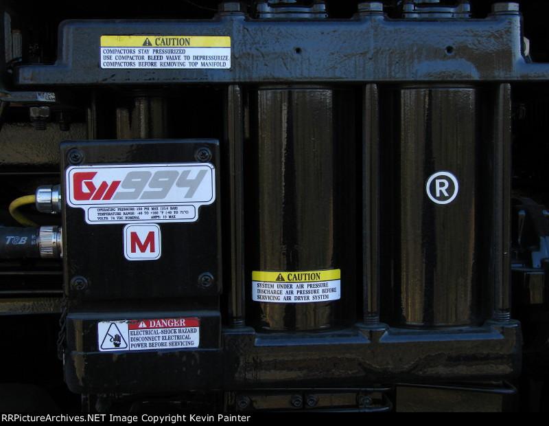 NS 7263 Air dryer detail