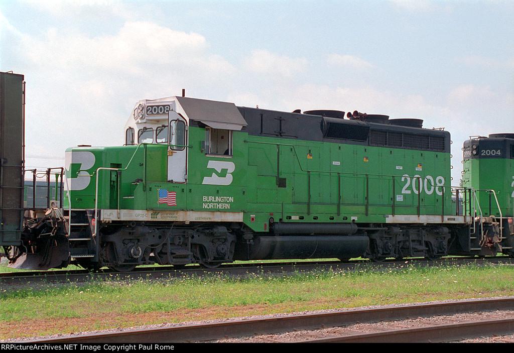 BN 2008, EMD GP20C, Geep rebuild with Caterpillar diesel engine, on BN