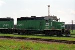 BN 2004, EMD GP20C, Geep rebuild with Caterpillar diesel engine, westbound on BN