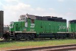 BN 2008, EMD GP20C, Geep rebuild with Caterpillar diesel engine, on BN