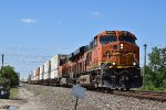 BNSF 8085 leads intermodal south