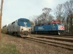 Metra passing Amtrak