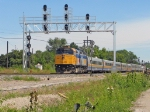 VIA 6416 WITH VIA 6403 & STAINLESS STEEL CARS DEAD HEADING