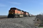 BNSF 7891 Leads a stack train over the Emporia Sub