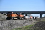 BNSF 7891 Slow's for traffic on the Emporia Sub.