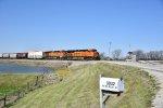 BNSF 7441 Races along the Emporia Sub,