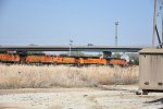 BNSF 5272 And other's sit in the yard in Emporia for storage.