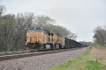 UP 6432 Leads a loaded coal down the Topeka Sub.