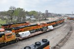 BNSF 6609 And other's hang out in Topeka ks.