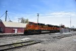 BNSF 8758 Races north with a empty coal train.