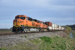 BNSF 4247 Drags a stack train up the K line.