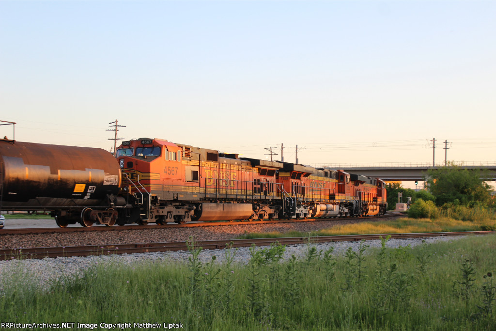 BNSF power heading off into the sunset.