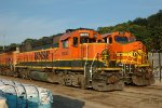 BNSF 3035, EMD GP40X, ex ATSF 3805 with BNSF 503, and BNSF 4031 at Gibson Yard