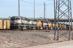 A sad sight - dozens of BNSF SD70MACs, C44-9Ws, and early model ES44s being stored in the Saginaw Yard.