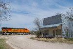 BNSF 6615 eastbound BNSF empty grain train