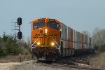 BNSF 6651 eastbound BNSF intermodal train