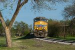 UP 5606 westbound K&O empty grain train