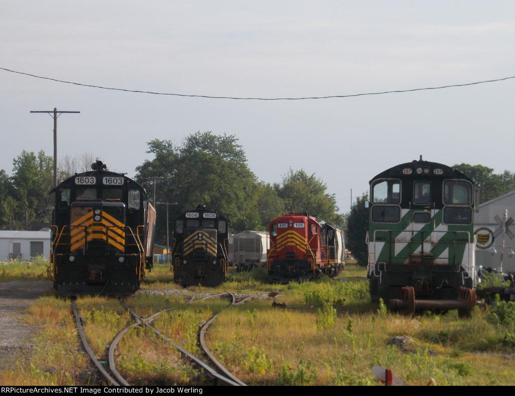 PREX 107, 1603, 1606, and 105