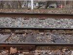 Cement coated rails in Martins creek yard