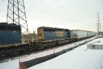 CSX 8160 and Rolling Stock.