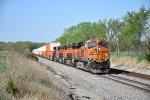 BNSF 7340 Drags a Q train through Medill Mo.
