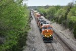 BNSF 4288 Brand new C4 on the lead of a Eastbound stack.