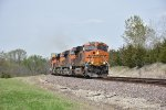 BNSF 8205 Leads a Z train with 5 unit's.