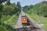 BNSF 3794 Splits the signals at Mp 231.3