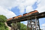 BNSF 8430 on the Media Trestle.
