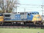 CSX 7812 on northwest wye
