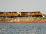 UP loaded coal train passing by