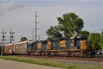 CSXT 8823 On CSX Q 243 Southbound With Two ExCon's