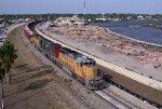 FEC 109 SB empty rock train