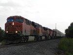 BNSF 6713 (GE ES44C4) leads EB Z-Train