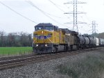 UP 6577 (GE AC4400CW) leads UP MHONP-18