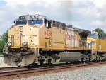 UP 6436 (GE AC4400CW) Leads MSPFW at the Hufsmith Siding