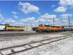 UP 1074 and BNSF 2838 Meet