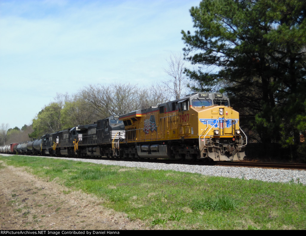 UP ES44AC leads 3 NS horses on 16Z