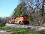 A pair of BNSF SD70ACe's lead NS 72Z