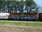 Odd graffiti on this KCS boxcar