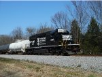 """NS """"Operation Lifesaver"""" SD40-2 leads the local"""