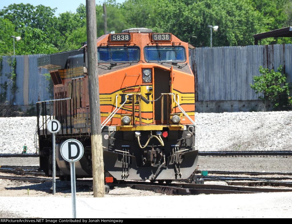 BNSF 5838 Sitting In The Yard