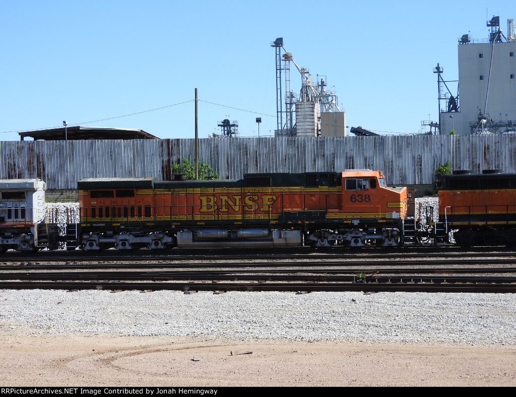 BNSF 638 Trailing On The Local