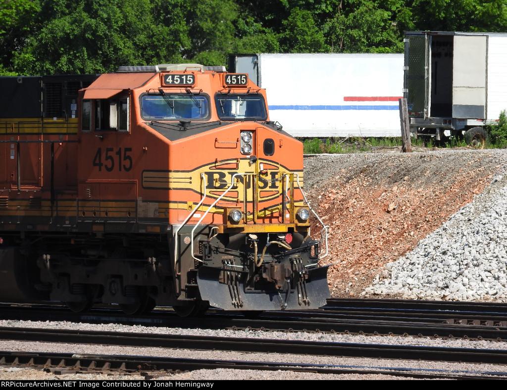 BNSF 4515 Leading A Rock Train