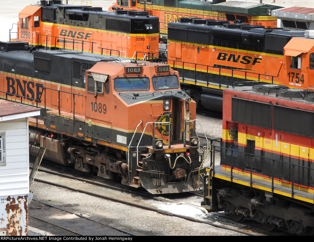 BNSF 1089 Parked In The Service Tracks