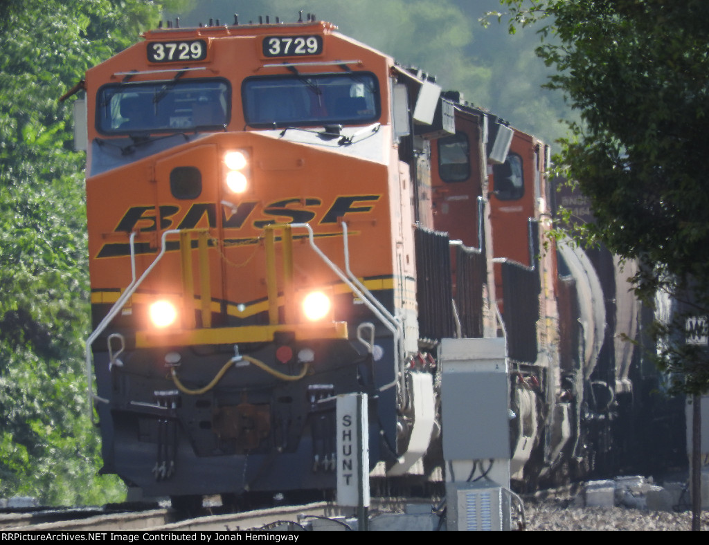 BNSF 3729 Leading A Mixed Freight At Eldon