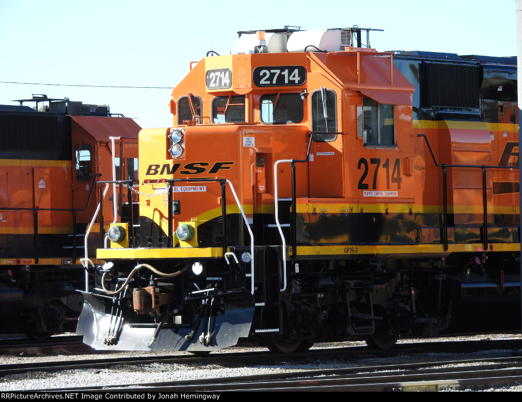 BNSF 2714 Parked In The Yard