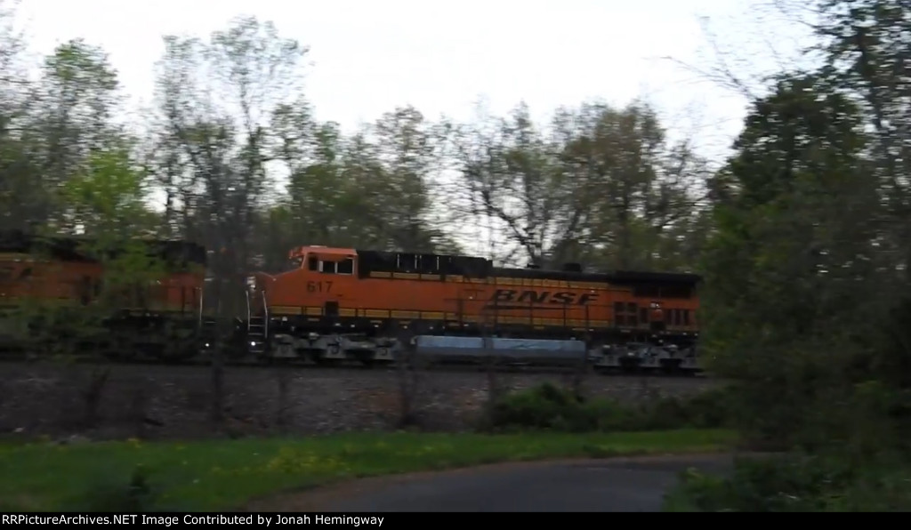 BNSF 617 Trailing On An Intermodal