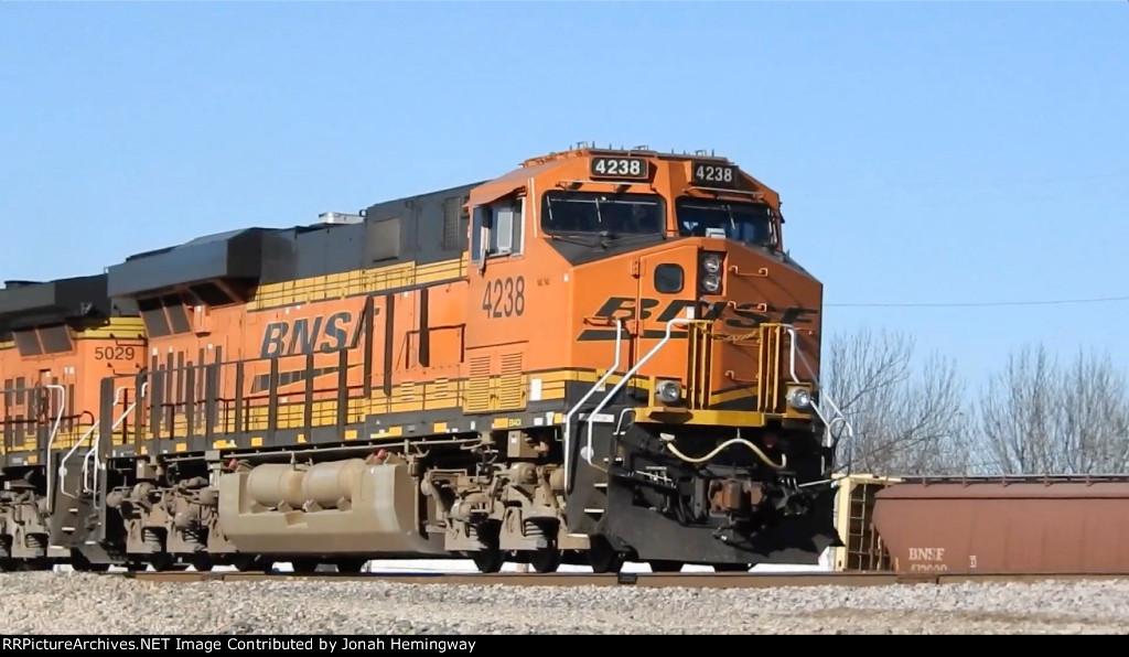 BNSF 4238 Leading Intermodal Into BNSF's Kansas Avenue Trainyard