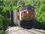 BNSF 8937 Trailing On The Rear Of A Coal Train